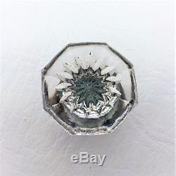 @1825 Antique Hardware Drawer Pull Cabinet Knob Pressed Cut Glass Crystal Brass