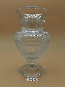 20th Baccarat Laetitia Vase Cut Crystal Museum Collection 1821-1840 Repro France