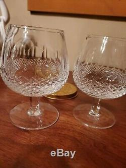2Waterford Irish Cut Thumbprint Crystal Colleen Brandy Snifters 5 Mint Cond