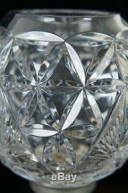 2 Waterford Millennium Cut Crystal Hurricane Lanterns Lamp Time Square Star Hope