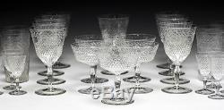 32pc Kosta Cut Crystal Goblets, assorted Wine, champagne, tumbler, sherry