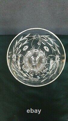44 Antique KOSTA Sweden Cut and Etched Crystal Water, Wine, Champagne Glasses