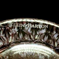 4 (Four) REED & BARTON ROGASKA SOHO Cut Crystal Double Old Fashion Glass-Signed