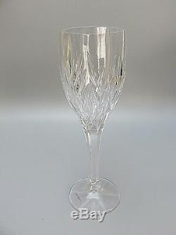 6 Galway Irish Crystal Clifdencut 10 Oz Wine Goblets/glasses Tall 8 1/2 Boxed