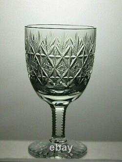 6 Thomas Webb Crystal Wellington Cut Water Goblets/claret Wine Glasses 5 1/4