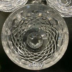 6 Waterford Crystal Kenmare 7 3/8 Wine Hock Glasses Ireland Excellent