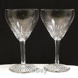 6pc Set St. (Saint) Louis Cut Crystal Wine Glasses. Rare Pattern
