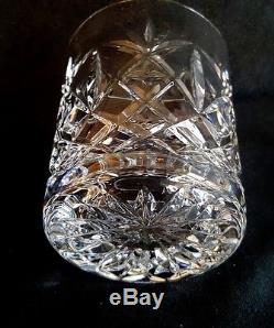 7 Double Old Fashioned Glasses / Tumblers Catalina By Atlantis Quality Cut Glass
