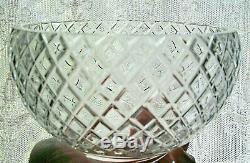 7 Lead Crystal Cut Glass Gas Light Chandelier Shade Electric Lamp Globe