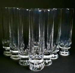 8 St Louis Crystal Cut 6 3/4 Tall Tom Collins Stems Tumblers INCREDIBLY RARE