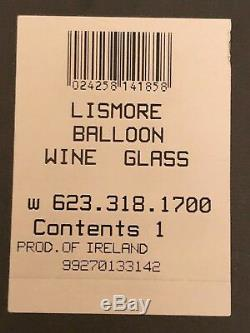 8 Waterford Lismore Ballon Wine Glasses 7in Clear Cut Crystal