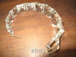 9 pc Vintage 13.5 Long Cut Crystal Prisms for Sconces Lusters Lamps Chandelier