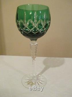 AJKA CRYSTAL Goblets Arabella Set 4 Multi-Color Cut Clear Wine 8 1/4 UNUSED
