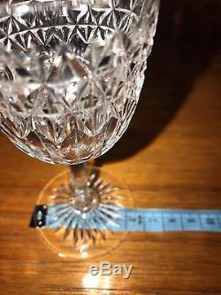 ANTIQUE AUTHENTIC EDWARDIAN (1910) CUT GLASS CRYSTAL GLASSES, x10. ROYAL STUART