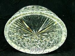 ANTIQUE FRENCH CUT CRYSTAL JEWELRY BOX OVAL HIGH QUALITY c. 1920'S