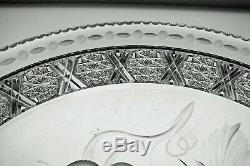 Abp Cut Glass Crystal Tray Signed Tuthill