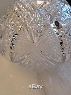 Amazing Antique ABP American Brilliant Cut Crystal Glass Vase