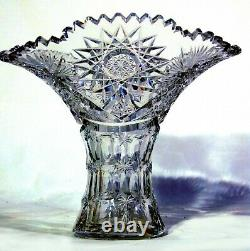 American Brilliant Cut Glass Crystal Vase