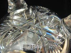 American Brilliant Cut Glass Crystal With 3 Legs Vase, Rare Shape, 10 Tall X 5 W