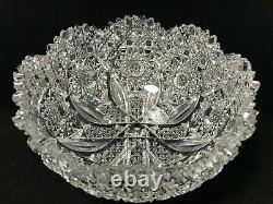 American Brilliant Cut Glass-Propeller By Parsche For Marshall Fields-Round Bowl