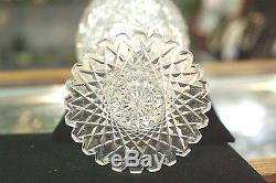 American Brilliant Cut Tall Crystal Vase 14.5 Inches