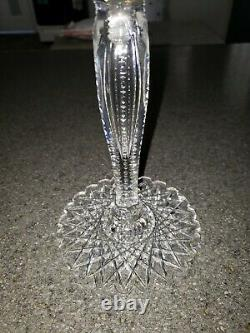 American Brilliant Period Russian Pattern Cut Glass Compote 24 pt. Hobstar Base