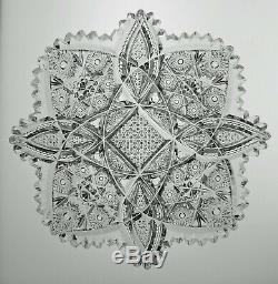 American Brilliant (abp) Cut Glass Crystal Plate By Libbey