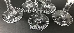 Anna Hutte Crystal Wine Glasses Cut to Clear Stemware Small Goblet Hock Glass