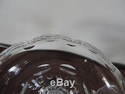 Antique 19th century Cut Crystal Glass Compote Urn & Cover Candy Jar Centerpiece