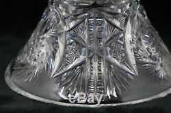 Antique American Abp Brilliant Cut Glass/crystal 2-piece Punch Bowl Very Unique