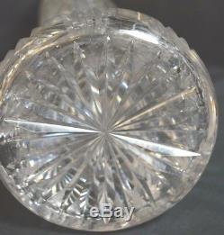 Antique American Cut Crystal Glass Tall Vase