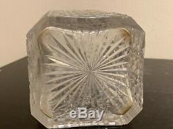 Antique Baccarat Crystal Harvard Cut Decanter