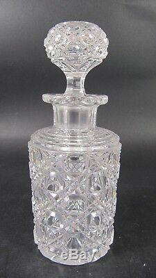 Antique Cut Crystal Perfume Scent Bottle French BACCARAT Pierreries Diamants