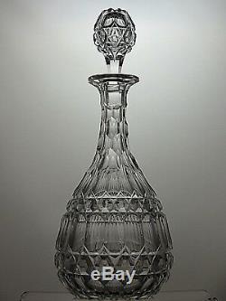 Antique Cut Glass Crystal Very Unique Victorian Decanter, C-1860-13 1/2(34cm)