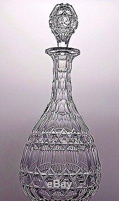 Antique Cut Glass Crystal Very Unique Whine Sherry Port Decanter