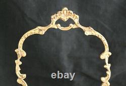 Antique French Crystal cut glass bronze ormolu mounted BASKET BOWL