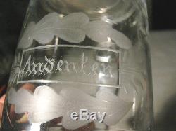Antique German Cut Glass Crystal Pewter Beer Bar Tavern Brewery Ale Stein Mug