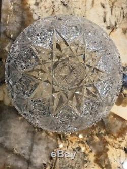 Antique Hawkes Cut Crystal Bowl. UTX
