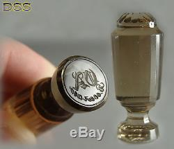 Antique Russian/Austrian Rock Crystal Cut Glass Quartz Wax Seal 95ct