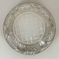 Antique Russian Louis XVI Empire Gilt Bronze Ormolu Cut Crystal Centerpiece Bowl
