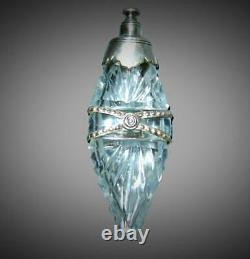 Antique Victorian Sterling Silver Cut Crystal Chatelaine Scent Perfume Bottle