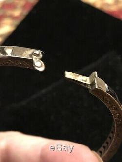 Art Deco Sterling Silver Crystal Princess Cut Channel Set Glass Bangle Bracelet