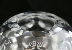 BACCARAT FRANCE CRYSTAL HERITAGE PONTIL VASE Circle cut rose ball vase