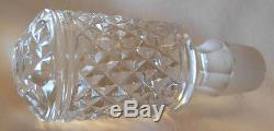 BEAUTIFUL RUSSIAN CUT GLASS CRYSTAL DECANTER / BOTTLE With 875 RUSSIAN SILVER NECK