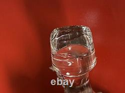 Baccarat 1703346 Crystal Massena Decanter 11 1/4 H Clear Cut Glass Defects