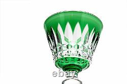 Baccarat Buckingham Emerald Cut to Clear Crystal Hock Wine Goblet Glass Signed