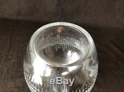 Baccarat Crystal Nancy Large Decanter 12 1/4 H Clear Cut France
