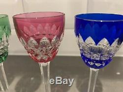 Baccarat Crystal Piccadilly Cordials Cut to Clear Glass 5 1/4 H France Set of 6