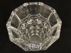 Baccarat France Celimene Heavy Cut Glass Crystal Vase 10 3/4 Tall Stunning