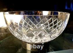 Baccarat France Crystal Serving Bowl Burgos Diamond Cross Cut Pattern